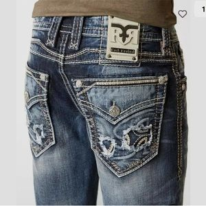 Rock Revival BUCKLE Scarab Boot Jeans 42 X 33
